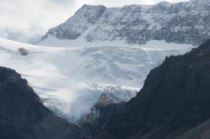 Glaciar en la Icefields Parkway, Canada
