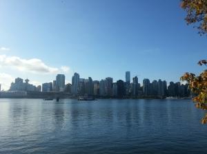Vistas de Metro Vancouver desde Stanley Park, Canadá
