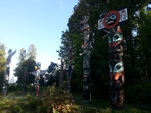 Totems en Stanley Park, Vancouver. Canada