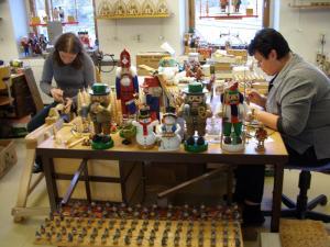 Taller-tienda de juguetes de madera en Seiffen